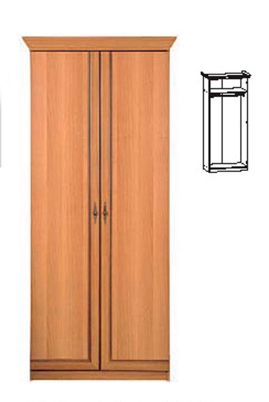 Двукрилен гардероб 196/85/56см