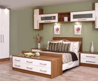 спалня от бял гланц и мерано