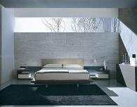 Спалня в цвят Венге и декоративно осветление.